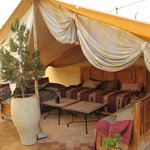 Nomadic tent on the terrace