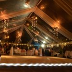 Inside our wedding tent for reception