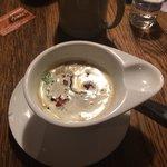 Zuppa di patate con speck croccante