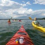 Kayaking out at sea!