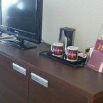 .coffee & tea but no coffee machine.