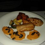 Tenderloin with  pumpkin mash and sweet potato