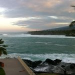 Sunrise from our room at the Sheraton Kona