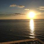 Sun rising on 2014 over the Mediterranean