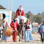 L arrivée du Père Noel