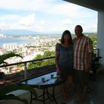 View from friends condo of Banderas Bay and North resorts