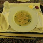 Serviço de quarto - sopa ótima