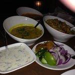 Yellow Daal, Vegetable Biryani & Raita