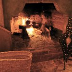 dinner at the fireplace
