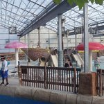 The young childrens indoor water park area