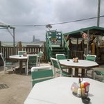 Patio at Pier 99 - there are some shaded tables