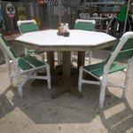 The patio furniture - it's actually pretty comfortable