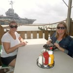 Our view of the USS Lexington