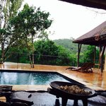 Rainning on the swimming pool