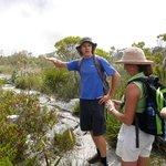 Riann describing the vegetation