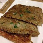 Leber auf Toast mit Trüffelcreme - super!