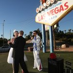 "Niki and Mike dance to ""Love Me Tender"" sang by Mobile Minister, Roland August at the Las Vegas"