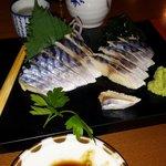 Marinated mackerel, wasabi,  hot sake etc magic!