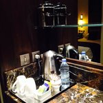 daily bottled water and tea/coffee making bar