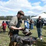Blacksmith demonstration at Easter on the Farm 2013.