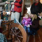Interactive Spinning Demonstration at Easter on the Farm.