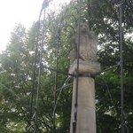 A bear statue