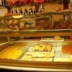 mostrador de la pastelería