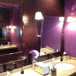 2nd story ladies bath- just loved the purple!