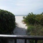 walkway to beach from resort