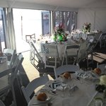 5 star Marquee with opening bifold glass doors to complement the magnificent view