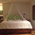 Nossa cama na chegada