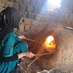 Berber Pizza being cooked.. (Ouzina)