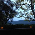 The view from our verandah at dusk