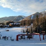 Fernie alpine resort as you can see it from the pool