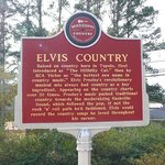 Elvis Country placard on grounds