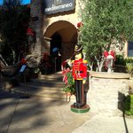 Mediterraneo entrance with Christmas Nutcracker statue