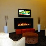 Lobby fireplace...nice