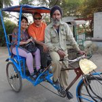 Rickshaw ride through the sanctuary