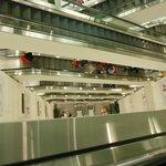 all the flight of escalators