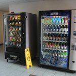 Vending machines at the back of the hotel.