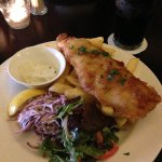 Delicious fish & chips from bar