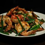 Fusion garlic chilli k.prawns