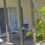 Front door and outdoor area