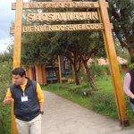 Entrance Sign to Saqsaywaman