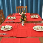 Our Christmas table for breakfast