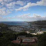 View from head of Koko head towards Honolulu