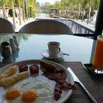 breakfast in the restaurant