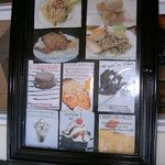 Sample Menu Items, much more awaits you inside !
