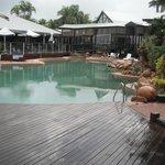 Pool daytime. Bit of rain but water still warm