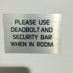 Oh Yeah - that makes me feel safe!!!